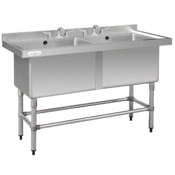 Vogue CF406 1.4m Dual Deep Pot Sink