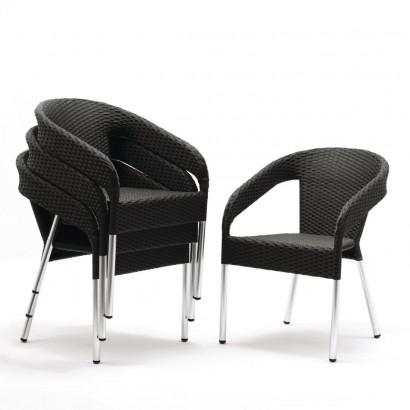 Bolero CG223 Wicker Wraparound Bistro Chair (Pack of 4)