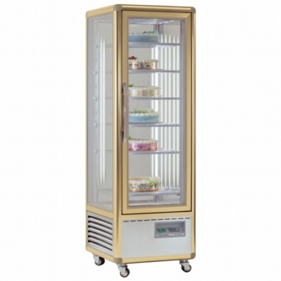 Tecfrigo Continental 350G Glass Shelved Upright Cake Fridge