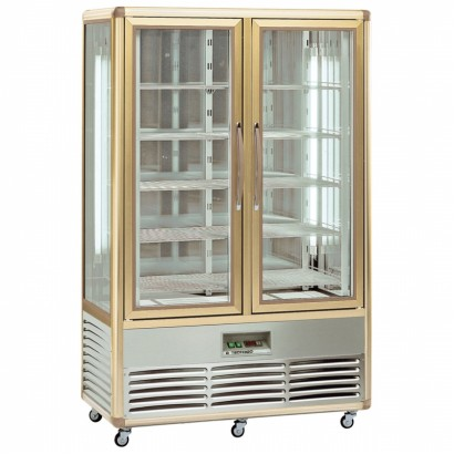 Tecfrigo Continental 700Q 700 Litre Wire Shelved Double Door Cake Display