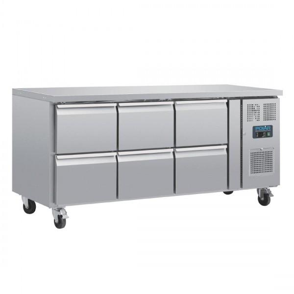 Polar DA548 Six Drawer Gastronorm Counter Fridge