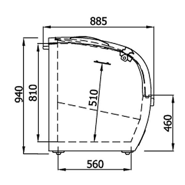 Arcaboa Vision 150H Hinged Lid High Vision Freezer