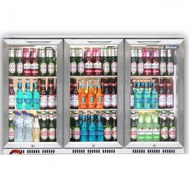Blizzard BAR3SS Triple Door Stainless Steel Bottle Cooler