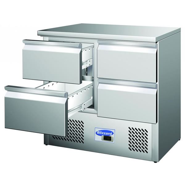Blizzard BCC2-4D Compact Counter with 4 Drawers