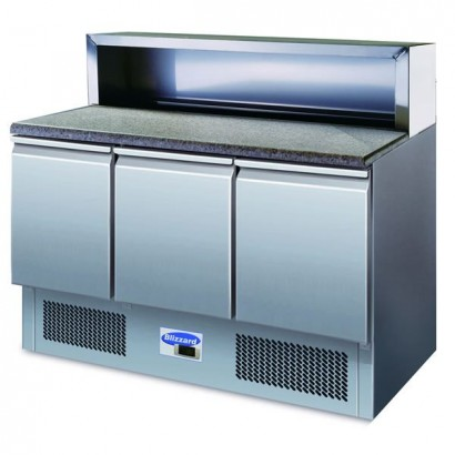 Blizzard BCC3PrepGranite 3 Door Granite Top Compact Prep Counter
