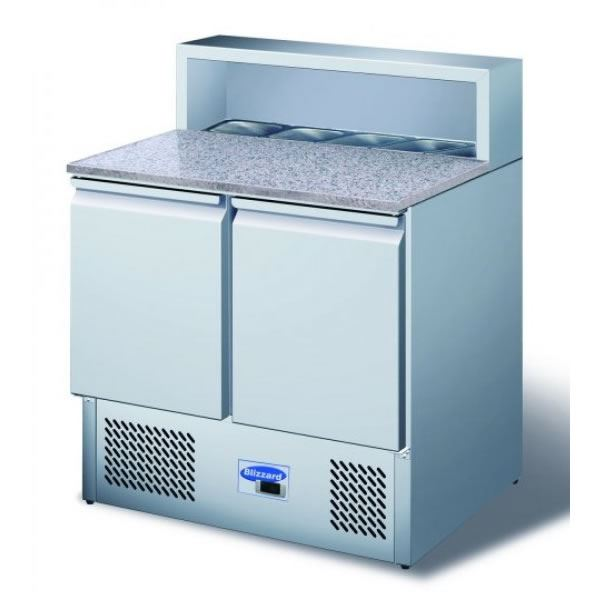 Blizzard BCC2PrepGranite 2 Door Granite Top Compact Prep Counter