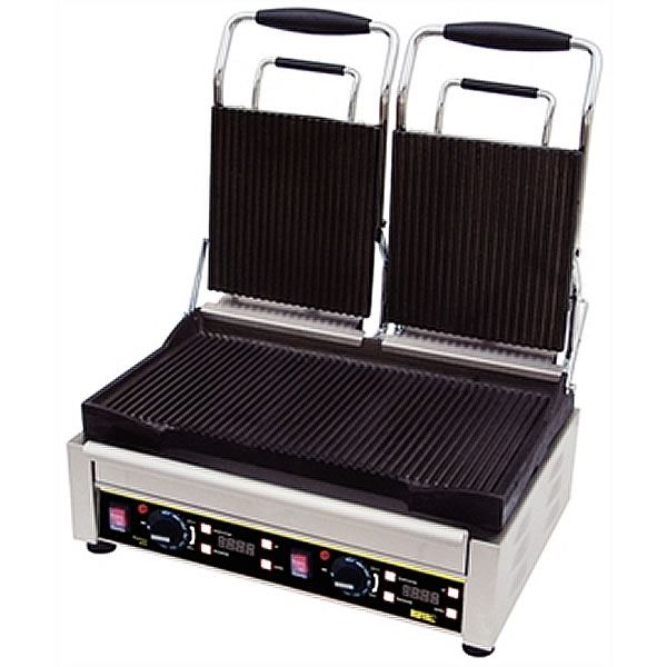 Buffalo L555 Ribbed/Flat Double Contact Grill