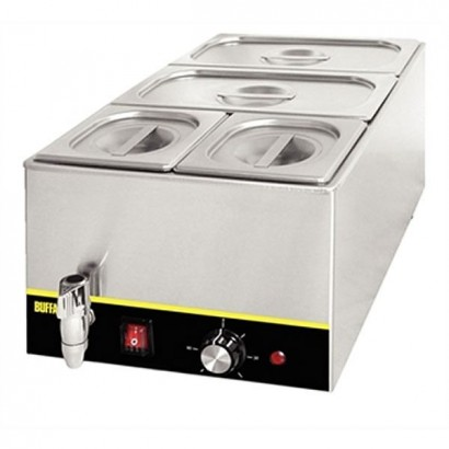 Buffalo S047 Wet Heat Bain Marie with Tap (With Pans)
