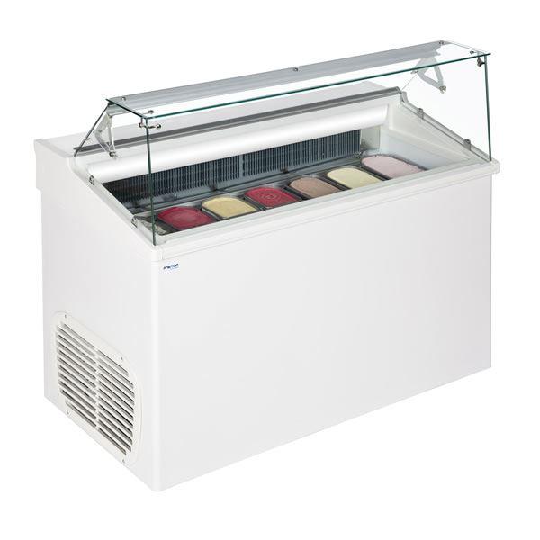 Framec TOP7E 7 Pan Soft Scoop Ice Cream Display Freezer
