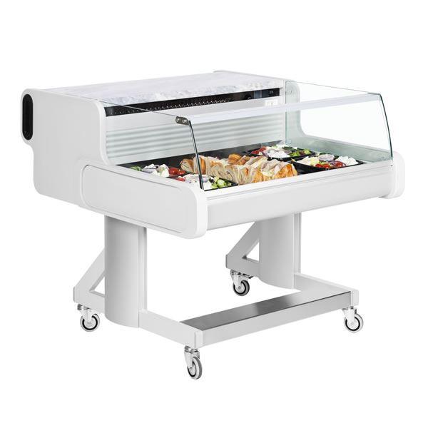 Frilixa Celebrity 150 1.5m Low Glass Mobile Serve Over Counter
