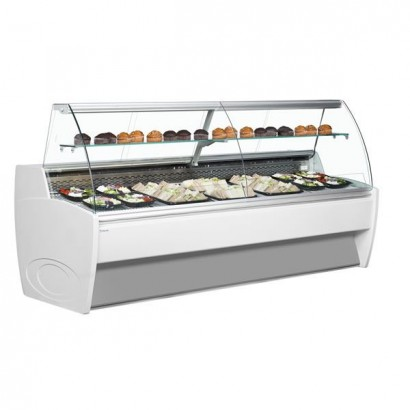 Frilixa Vista 10 1m Curved Glass Serve Over Counter