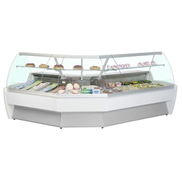 Frilixa Vista 90° EXT Corner Curved Glass Serve Over Counter