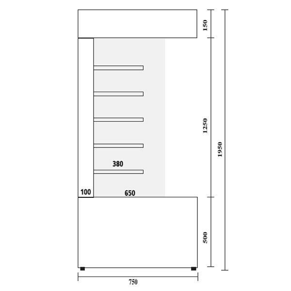 Frost Tech SD75-100 1.0m Stainless Steel Multideck