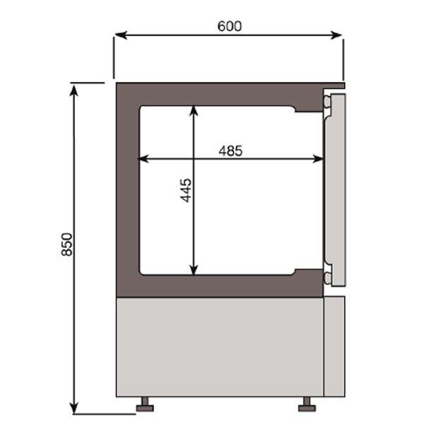 Infrico ESC150CR Glass Door Glass Froster