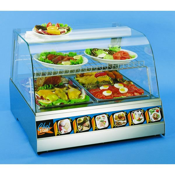 Interlevin Chef 1 0.4m Heated Counter Top Display Cabinet