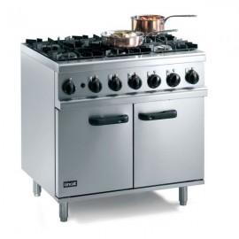 Lincat OG7002 0.9m Opus 700 6 Burner Gas Oven Range