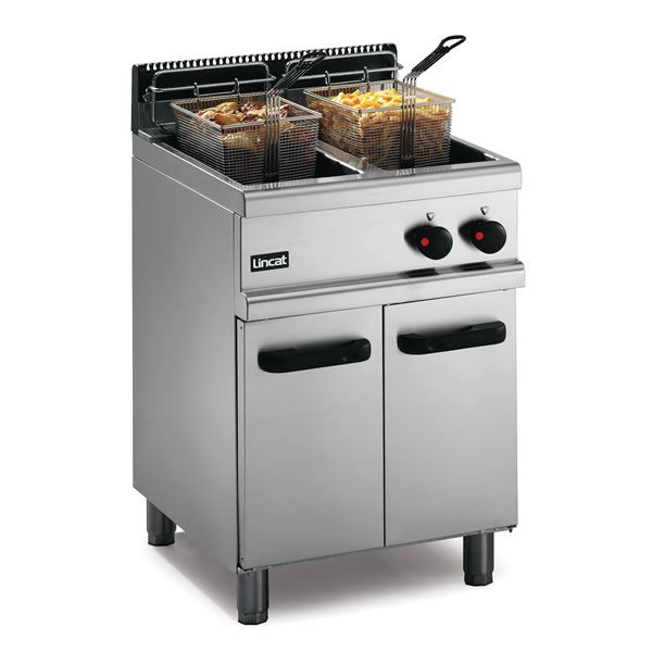 Lincat OG7111 0.6m Heavy Duty Twin Tank Freestanding Gas Fryer