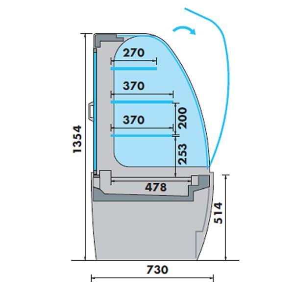 Mafirol Jade 1000FV-VCR Refrigerated Display