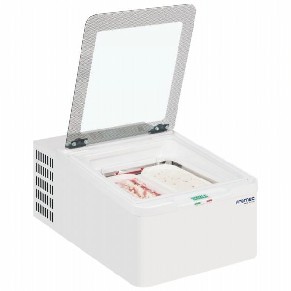Framec MINI CREAM 2V Counter Top Scoop Ice Cream Display Freezer