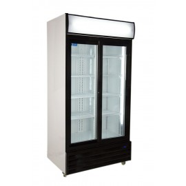 Kool UF-800ALS Double Sliding Door Upright Chiller