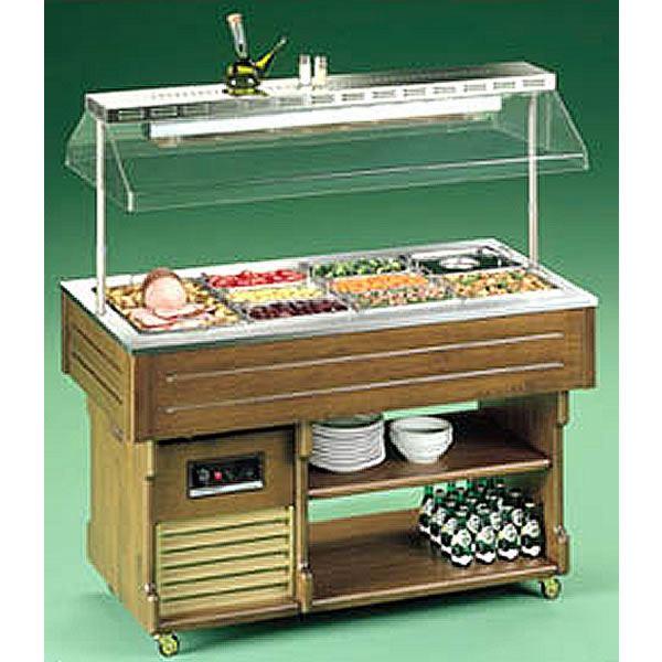 Tecfrigo Isola 6 BM Hot 2m Buffet Display with Bain Marie