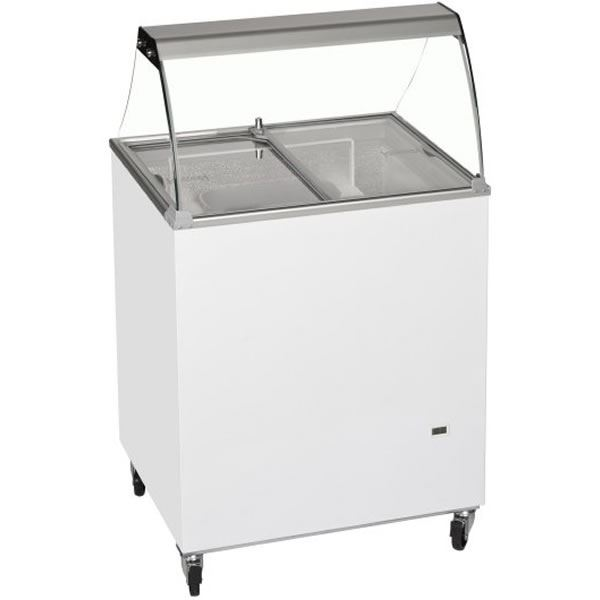 Tefcold IC200SC CANOPY 4 Pan Ice Cream Display
