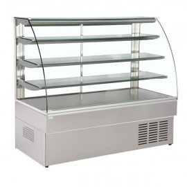 Trimco Zurich 150SS 1.5m Stainless Steel Patisserie Display