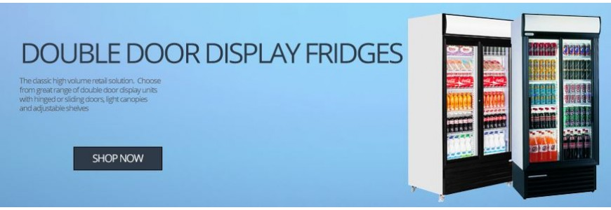Double Door Display Fridges