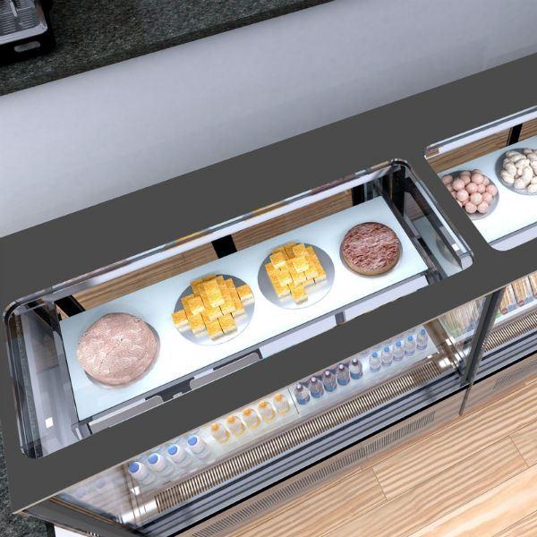 Interlevin LPD900F 0.9m Chilled Flat Glass Display Cabinet