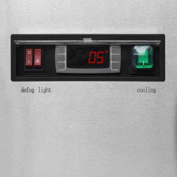 Interlevin LPD1200F 1.2m Chilled Flat Glass Display Cabinet