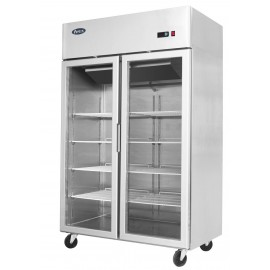 Atosa MCF8605 Double Glass Door Display Fridge