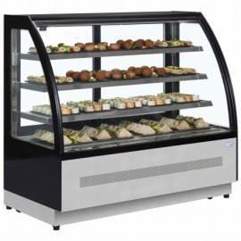 Interlevin LPD1500C 1.5m Chilled Flat Glass Display Cabinet