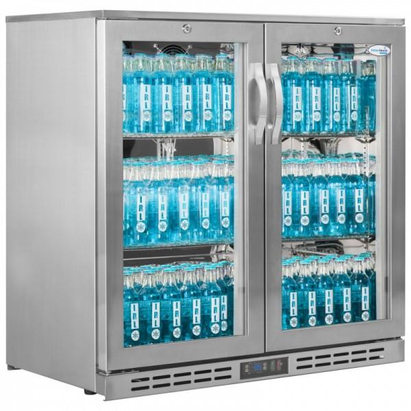 Interlevin GF20H Stainless Steel 2 Door Sub Zero Cooler