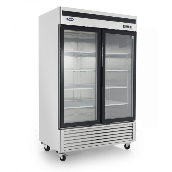 Atosa MCF8703 Double Glass Door Display Freezer