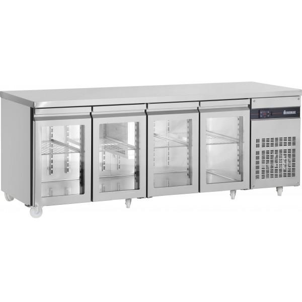 Inomak PN9999CR Four Glass Door Fridge Counter