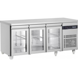Inomak PN999CR Three Glass Door Fridge Counter