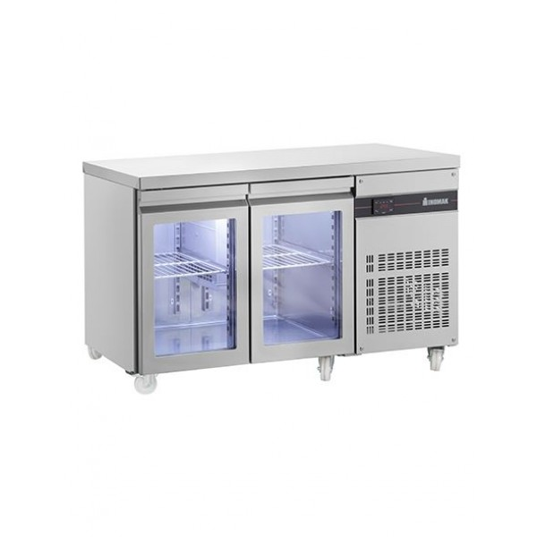 INOMAK PN99CR Two Glass Door Fridge Counter