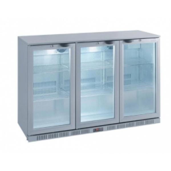 Kool NRLS-BD320A Silver Hinged Triple Door Bottle Cooler
