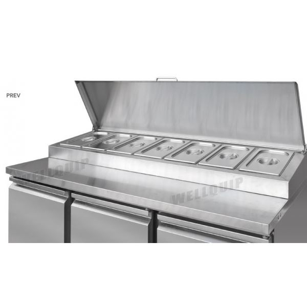 Atosa ESL3869 Three Door Food Prep Counter Fridge