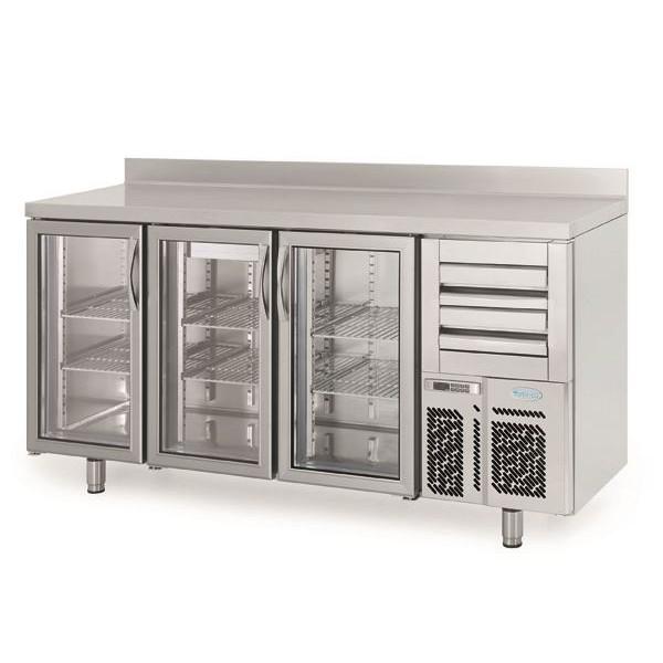 Infrico FMPP2000CR 2m Glass Door Bar Counter