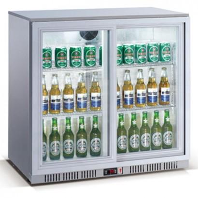 Kool NRLS-BD210AS Silver Sliding Double Door Bottle Cooler