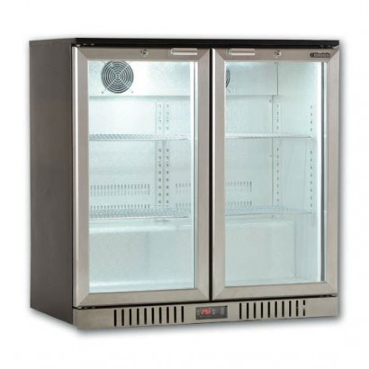 Kool NRLS-BD210A Silver Hinged Double Door Bottle Cooler