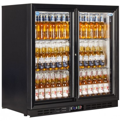 Interlevin EC20S Double Sliding Door Back Bar Chiller