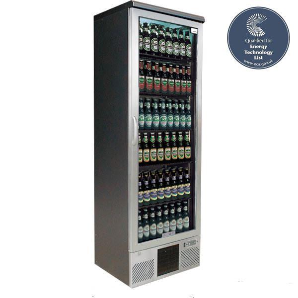 Gamko MG-300GCS Single Door Stainless Steel Upright Bottle Cooler