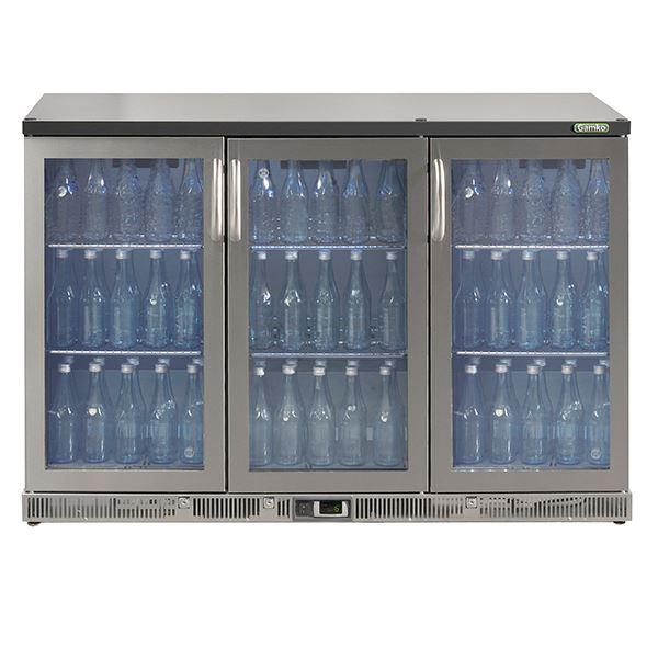 Gamko MG2-315GCS Triple Door Stainless Steel Bottle Cooler