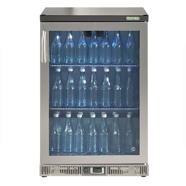 Gamko MG2-150GCS Single Door Stainless Steel Bottle Cooler