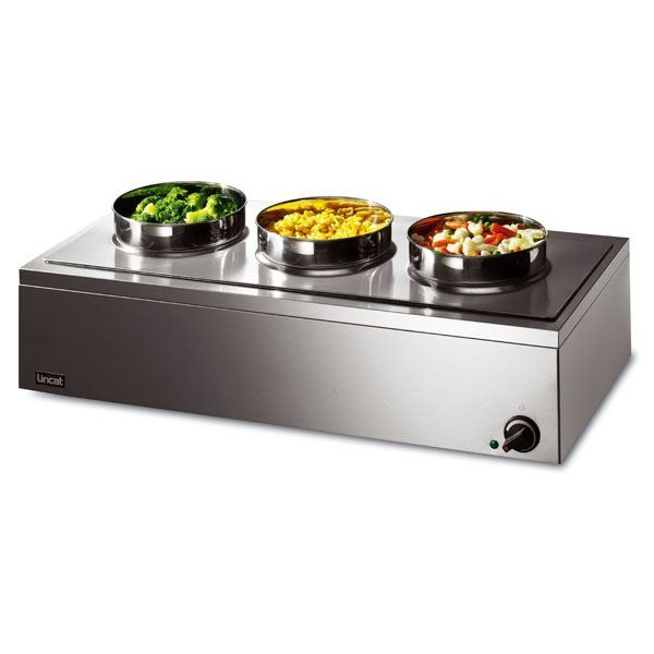 Lincat LRB3W 3 Pot Lynx Wet Heat Round Pot Bain Marie
