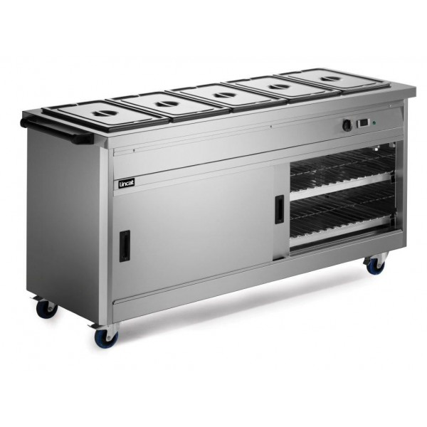 Lincat P6B5 1.8m Panther 670 Series Hot Cupboard with Bain Marie