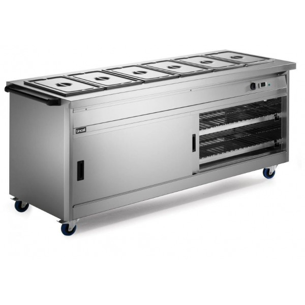 Lincat P8B6PT 2.1m Panther 800 Series Pass Through Hot Cupboard with Bain Marie