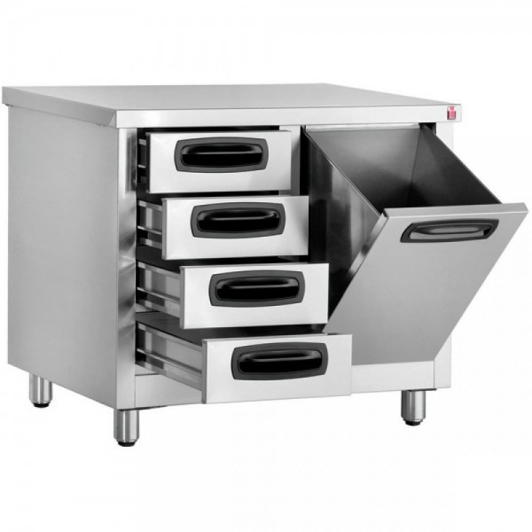 Inomak EA7014L Storage Cupboard with Storage Bin